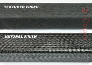 Textured vs. Natural Carbon Fiber Finish