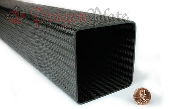 Flame Retardant Braided Carbon Fiber Square Tubing