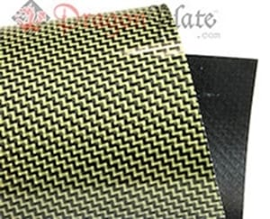 Picture for category Twill Weave Carbon/Kevlar (Yellow) Veneer