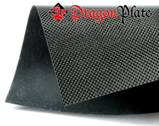"Picture of Flame Retardant Plain Weave Carbon Fiber Laminate .025"" x 48"" x 96"""