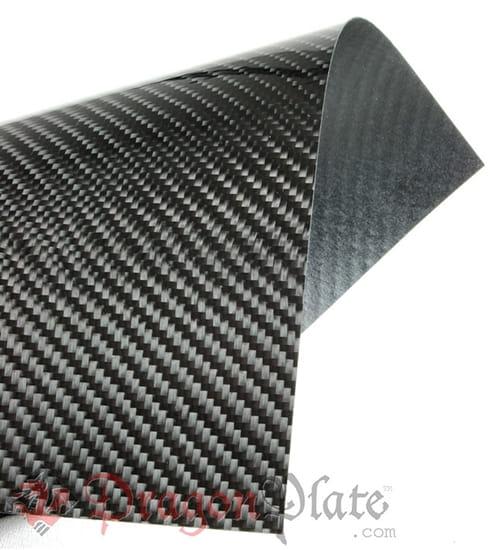 "Picture of Flame Retardant Carbon Fiber Twill Veneer 24"" x 48"""