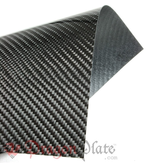 "Picture of Flame Retardant Carbon Fiber Twill Veneer 48"" x 96"""
