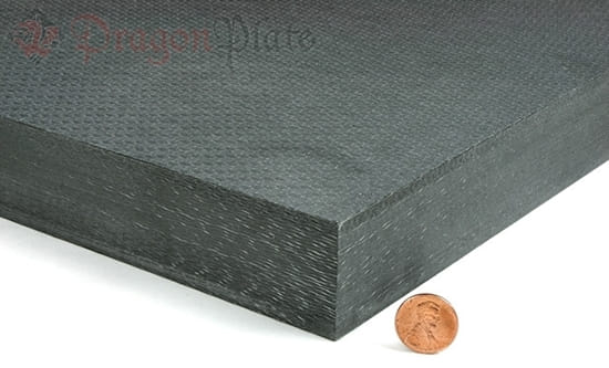 "Picture of Flame Retardant Quasi-isotropic Carbon Fiber Twill Prepreg Sheet ~ 1.25"" x 24"" x 24"""