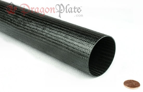 "Picture of Flame Retardant Braided Carbon Fiber Round Tubing ~ 2.5"" ID x 96"""