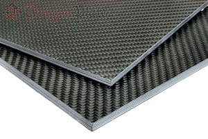"Picture for category 3/8"" Quasi-isotropic Carbon Fiber Twill/Uni Sheets"