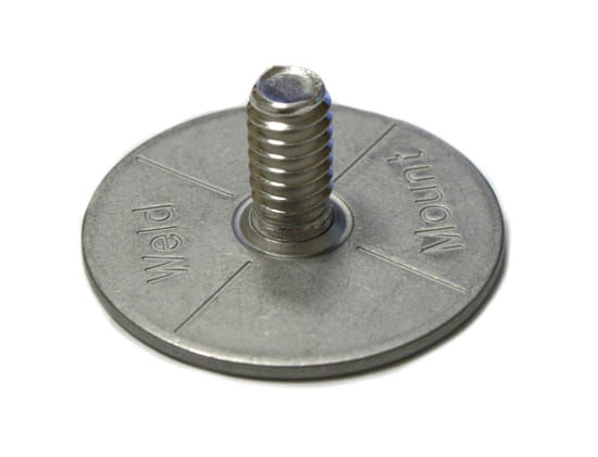 "Picture of Stainless Panel Stud - 1/4""-20 thread - 0.5"" tall"