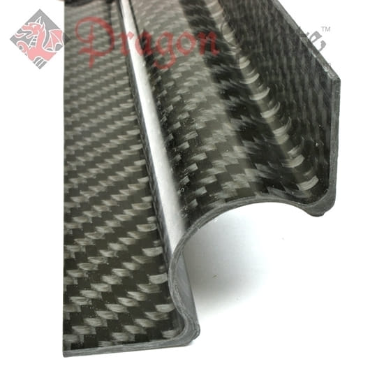 "Picture of 1"" Carbon Fiber 90 Degree Tangent Tube Mount™ - 12"" Long"