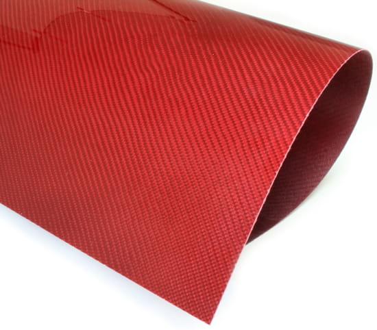 Twill Weave Red Kevlar Veneer