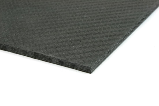 "Economy Solid Carbon Fiber Sheet ~ 1/4"" x 12"" x 12"""