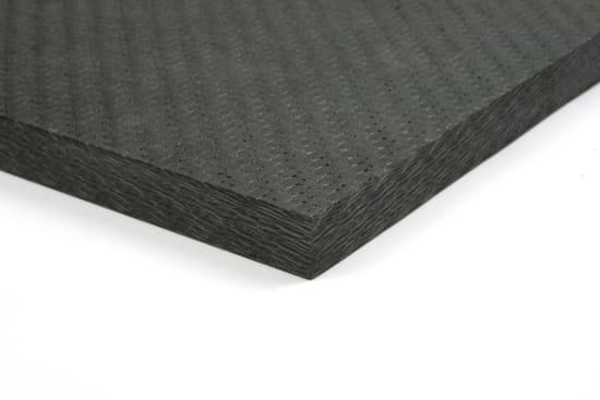 "Economy Solid Carbon Fiber Sheet ~ 3/8"" x 24"" x 24"""