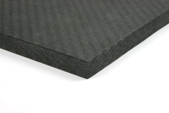 "Economy Solid Carbon Fiber Sheet ~ 1/2"" x  6"" x  6"""