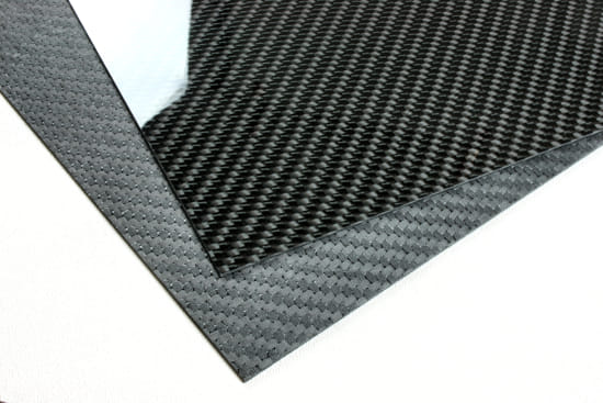 "Economy Solid Carbon Fiber Sheet ~ 2mm x 24"" x 48"""