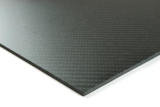 "Quasi-isotropic Carbon Fiber Twill/Uni Sheet ~ 1/16"" x 12"" x 12"""