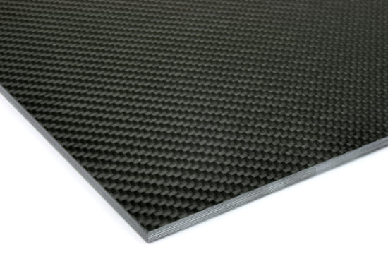 "Quasi-isotropic Carbon Fiber Twill/Uni Sheet ~ 3/16"" x 12"" x 12"""