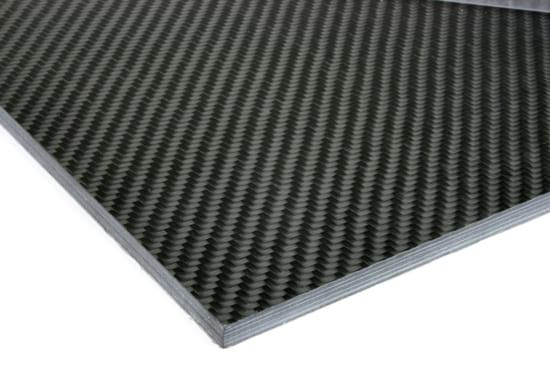 """0/90 Degree Carbon Fiber Twill/Uni Sheet ~ 1/4"""" x 24"""" x 24"""""""