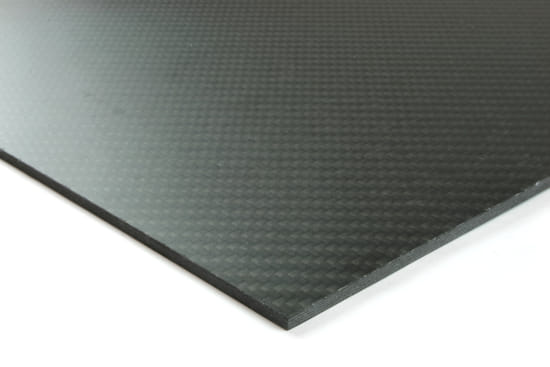 "0/90 Degree Carbon Fiber Twill/Uni Sheet ~ 2mm x 12"" x 12"""