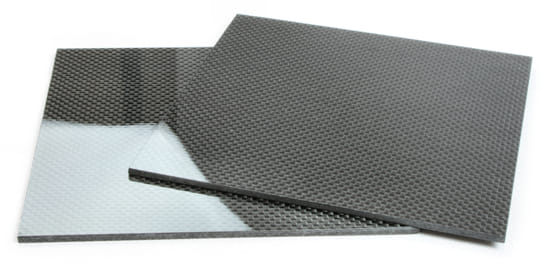 "Two Sided Gloss Quasi-isotropic Carbon Fiber Sheet ~ 1/8"" x 12"" x 12"""