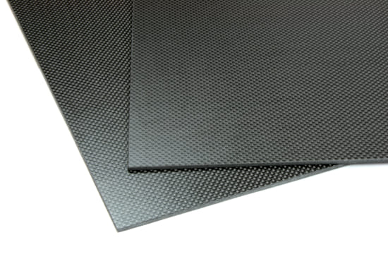 "Two Sided Matte Quasi-isotropic Carbon Fiber Sheet ~ 1/8"" x  6"" x  6"""