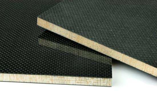 "DragonPlate Carbon Fiber Balsa Core ~ 1/2"" x  6"" x  6"""