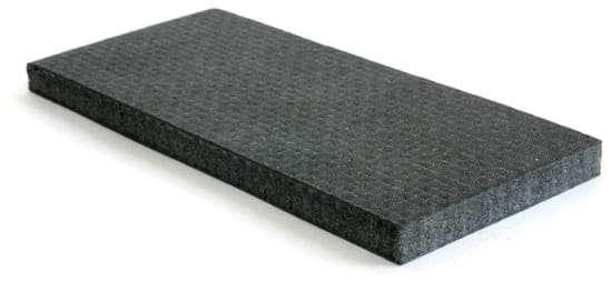 "Depron 6mm Foam Core - 1 Layer Carbon Fiber  6"" x  6"""