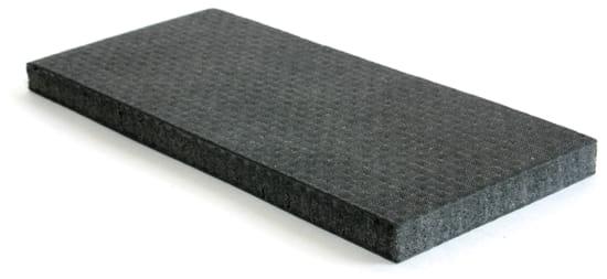 """Depron 6mm Foam Core - 1 Layer Carbon Fiber 12"""" x 12"""""""