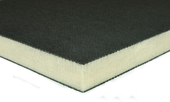 "EconomyPlate Divinycell H100 1"" Foam Core Carbon Fiber Sheet -  6"" x  6"""
