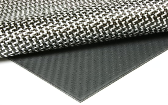 "Carbon Fiber Dyneema® Core Sheet - 1/8"" x 24"" x 24"""