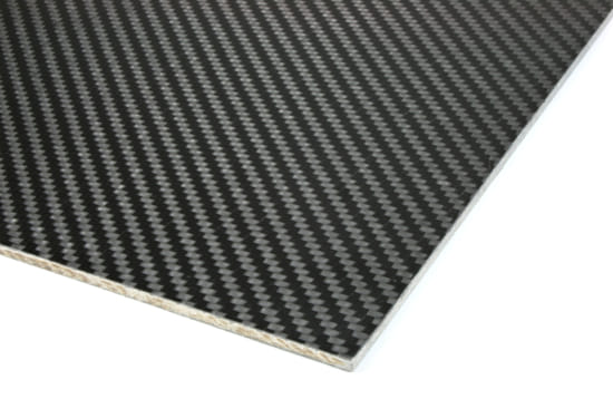 "Carbon Fiber Prepreg Ekoa® Flax Linen Core Sheet - 1/16"" x 12"" x 24"""