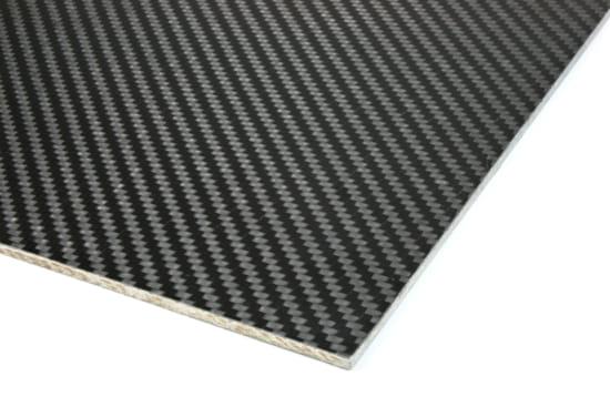 "Carbon Fiber Prepreg Ekoa® Flax Linen Core Sheet - 1/8"" x 12"" x 12"""