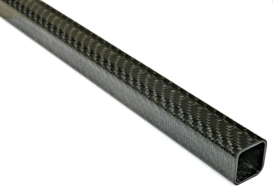 "Carbon Fiber Roll Wrapped Twill Square Tube ~ 0.75"" ID x 0.75"" ID x 24"""