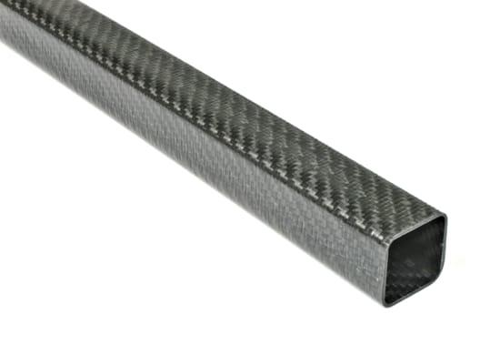 "Carbon Fiber Roll Wrapped Twill Square Tube ~ 1.25"" ID x 1.25"" ID x 24"""