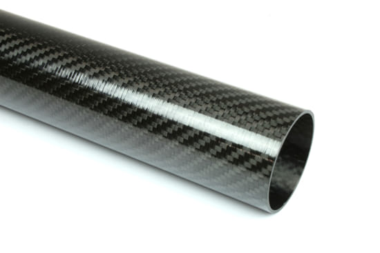"Carbon Fiber Roll Wrapped Twill Tube ~ 1.75"" ID x 96"", Thin Wall Gloss Finish"