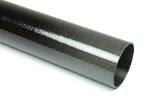 "Carbon Fiber Roll Wrapped Uni Tube ~ 1.875"" ID x 96"", Gloss Finish"