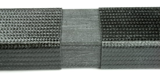 "2"" x 1"" Carbon Fiber Rectangular Tube Splice"
