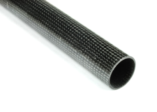 "Axially Optimized Braided Carbon Fiber Tube ~ 1"" ID x 96"""