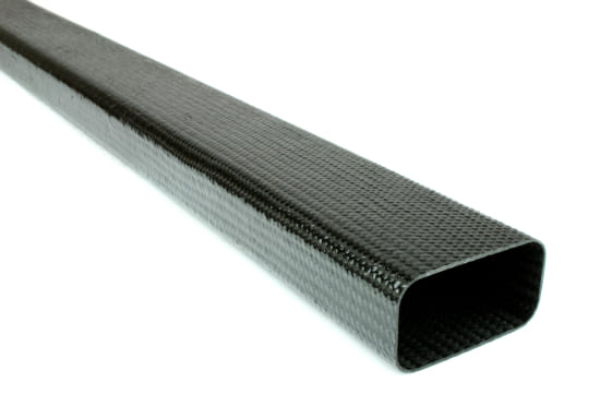 "Braided Carbon Fiber Rectangular Tubing ~ 2"" x 1"" x 24"""
