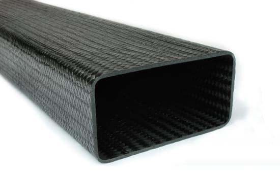 "Braided Carbon Fiber Rectangular Tubing ~ 2"" x 4"" x 24"""