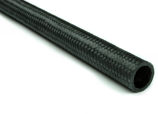 "Braided Carbon Fiber Round Tubing ~ 0.53"" OD x 24"""