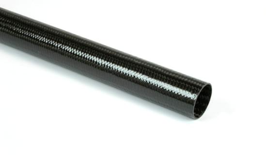 "Braided Carbon Fiber Round Tubing ~ 0.75"" ID x 24"""