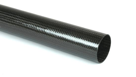 "Braided Carbon Fiber Round Tubing ~ 1.25"" ID x 48"""