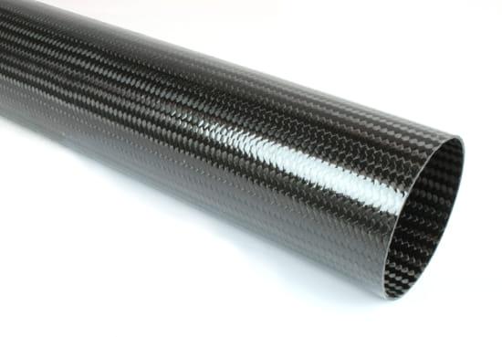 "Braided Carbon Fiber Round Tubing ~ 3.25"" ID x 48"""