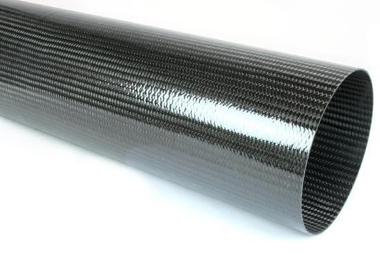 "Braided Carbon Fiber Round Tubing ~ 6"" ID x 48"""