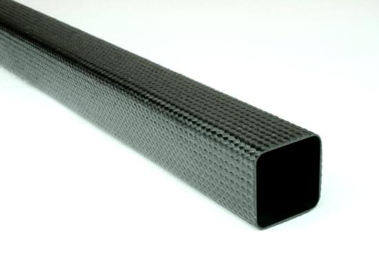 "Braided Carbon Fiber Square Tubing ~ 1"" x 1"" x 24"""