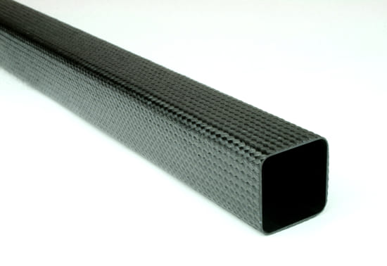 "Braided Carbon Fiber Square Tubing ~ 1"" x 1"" x 48"""