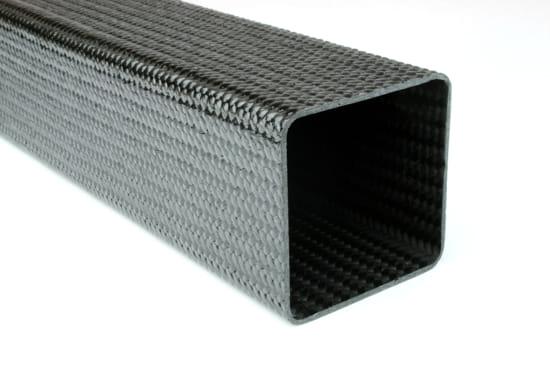 "Braided Carbon Fiber Square Tubing ~ 2"" x 2"" x 24"""