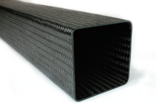 "Braided Carbon Fiber Square Tubing ~ 3"" x 3"" x 24"""