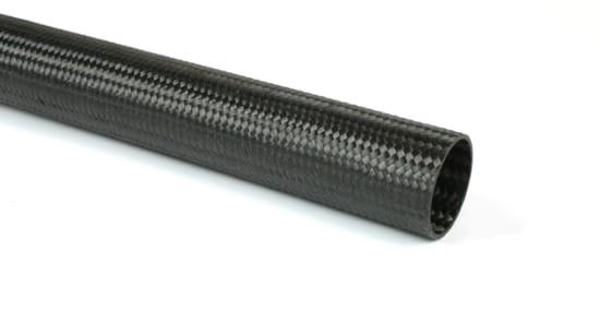 "Braided EconomyTube™ Carbon Fiber Round Tubing ~ 0.75"" ID x 48"""