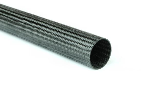 "Braided EconomyTube™ Carbon Fiber Round Tubing ~ 1"" ID x 24"""