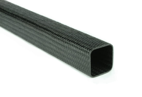 "Braided EconomyTube™ Carbon Fiber Square Tubing ~ 0.75"" x 0.75"" x 24"""