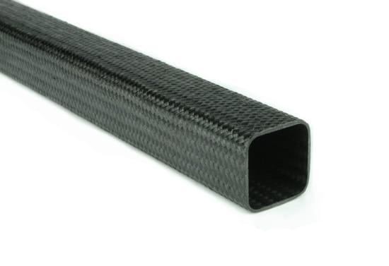 "Braided EconomyTube™ Carbon Fiber Square Tubing ~ 0.75"" x 0.75"" x 96"""